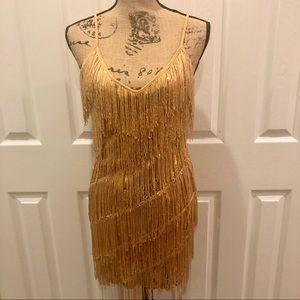 Halloween 1920's Flapper Gatsby costume size s/m